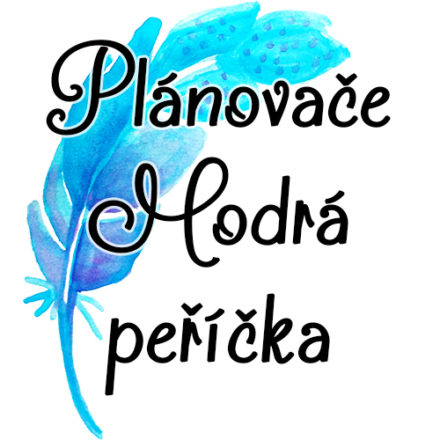 Měsíční plánovače – Modrá peříčka